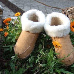 Chaussons en mouton lainé - Tailles 18 à 32